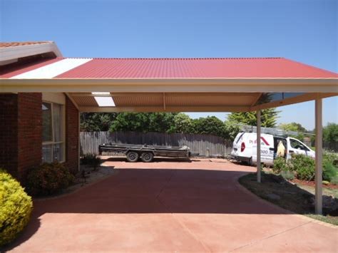 awnings victoria custom designed steel colorbond carports