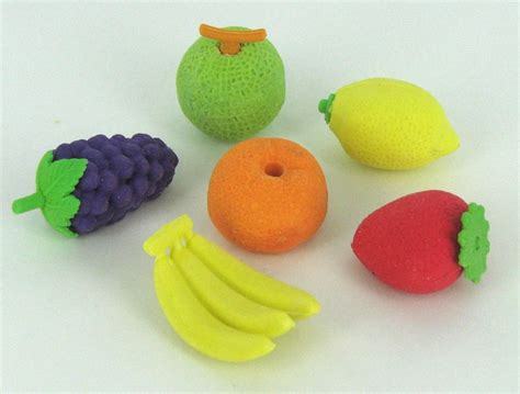 fruit erasers discover and save creative ideas