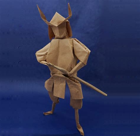 Origami Samurai Warrior - taro s origami celebrates kubo and the two strings at