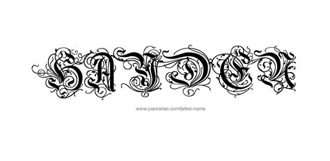 tattoo design ideas for names hayden name designs