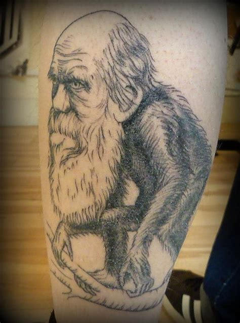 darwin tattoo charles darwin 2 by garvey tattoonow
