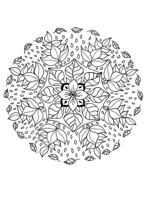 Flower Mandala Coloring Pages Hellokids