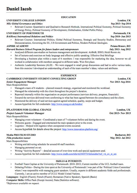 Resume Template For 60 Year by Cv 16 Year Exle