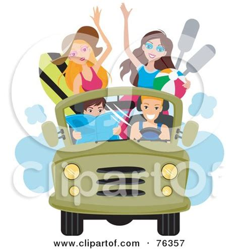 beach jeep clipart royalty free rf clipart illustration of a woman driving