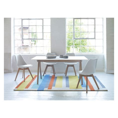 White Extending Dining Table And Chairs Jerry Dining Set With White Extending Table And 4 White Chairs Buy Now At Habitat Uk