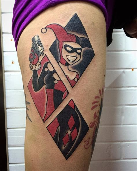 joker harley tattoo harley quinn designs ideas and meaning tattoos