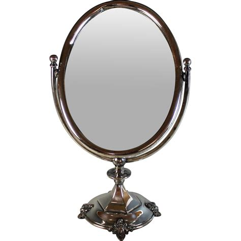 vintage table top mirror antique silverplate table top mirror silver plate from