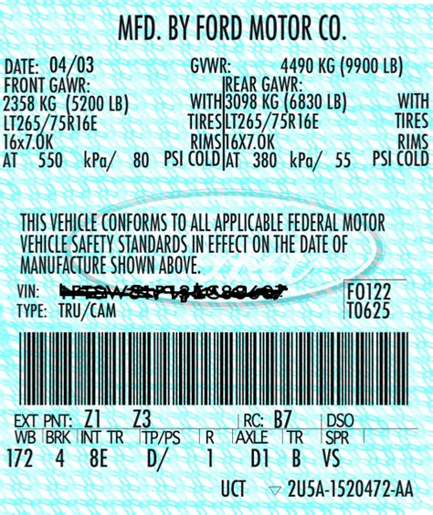 Yamaha Vin Sticker Replacement by Replacement Vin Vehicle Identification Number Stickers
