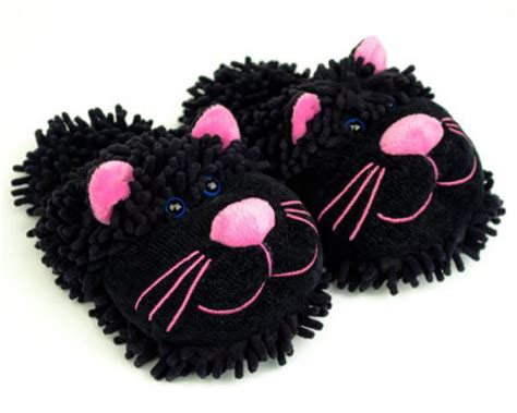 slippers for cats fuzzy black cat slippers black pink cat slippers