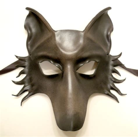 leather puppy mask grey wolf or leather mask by teonova on deviantart