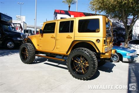 lebron white jeep 2012 sema auto gold 4 door jeep jk wrangler