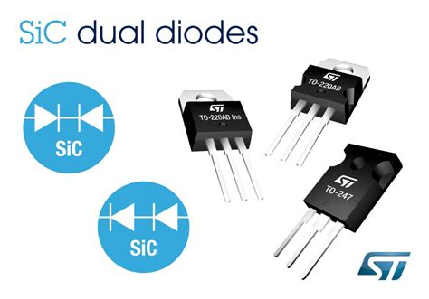 sic schottky diode 650v sic diodes from stmicroelectronics configurations for increased safety energy