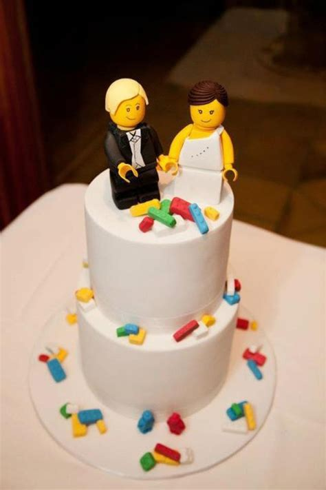 Lego Bride And Groom Cake Topper   CakeCentral.com