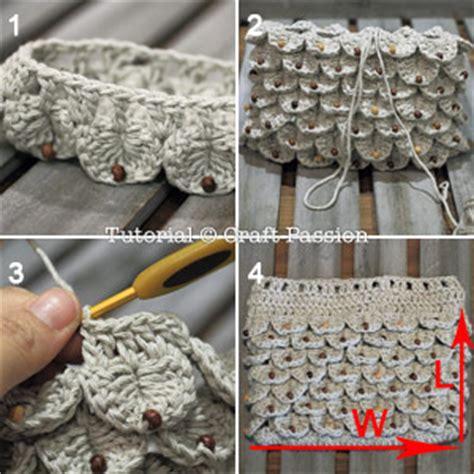 Tas Handbags Jelly Flower Ks crocodile stitch drawstring purse free crochet pattern