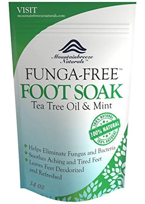 Foot Fungus Detox by Antifungal Tea Tree Foot Soak With Epsom Salts Helps