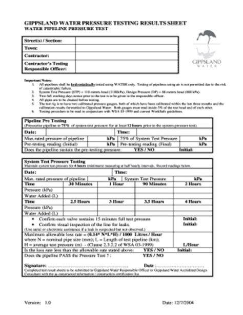 water analysis report template water test report format fill printable