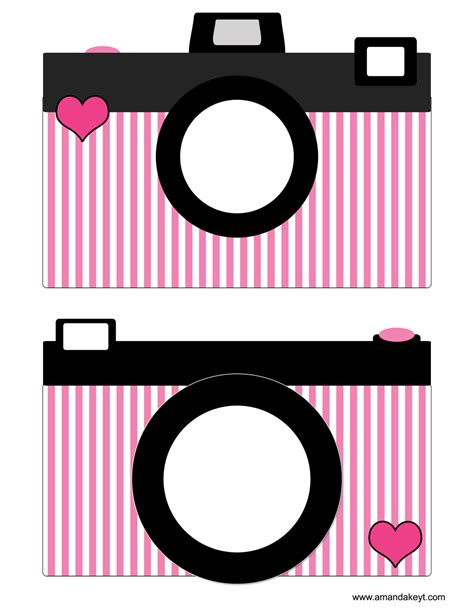 free printable paris themed photo booth props cameras from paris pink printable photo booth prop set