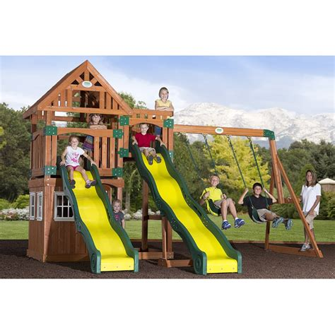 backyard swing sets backyard discovery 54253com journey cedar swing set atg