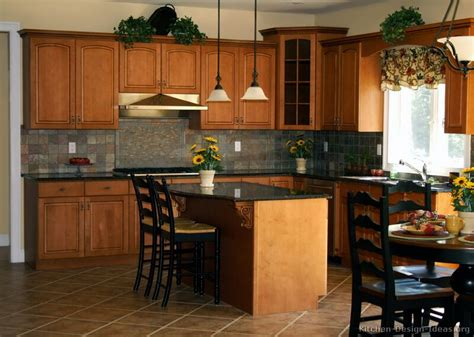 kitchen color ideas with brown cabinets pictures of kitchens traditional medium wood cabinets