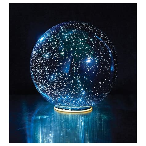Lighted Spheres Outdoor Lighted Mercury Glass Sphere Blue Ebay