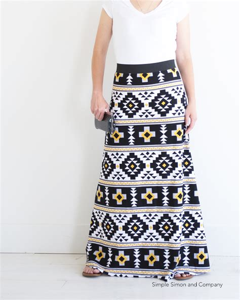 simple maxi skirt pdf pattern free simple simon and