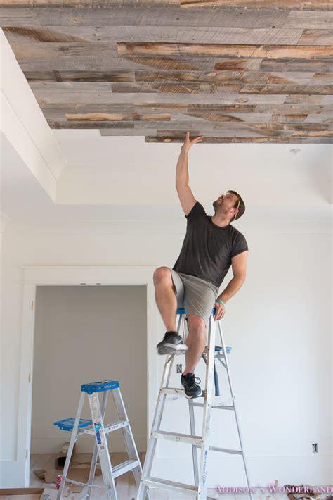 reclaimed weathered wood stikwood ceiling addisons
