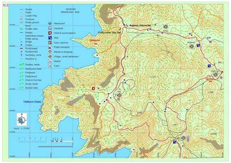 lycian way best sections geybel sidyma geyber map section 3 lycian discover guide