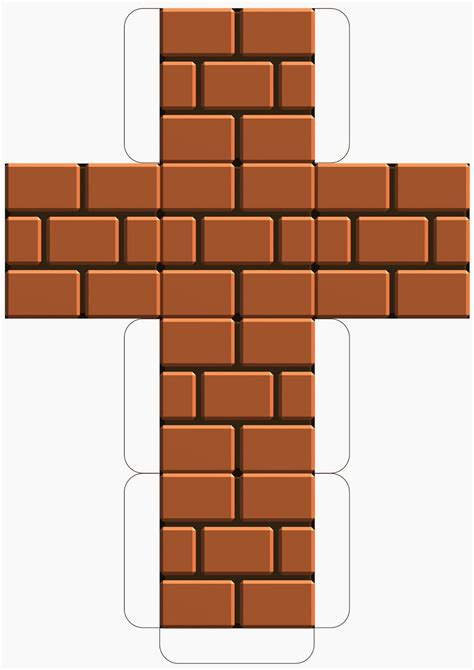 brick template my mario boy mario downloadable printable block
