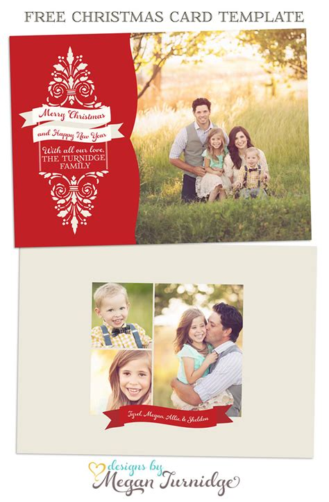 Family Card Template 2 Family Christmas Card Templates Free Fun For Christmas Halloween