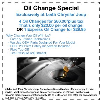 Chrysler Change Coupons by Chrysler Jeep Changes In Cary Nc Coupons Discounts