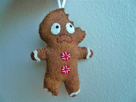 felt ornaments gingerbread man gifts  men  luulla