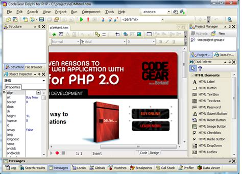 tutorial delphi for php 2 0 what s new in delphi for php 2 0