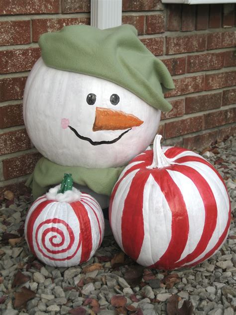 pumpkins decorated for christmas decorate your left pumpkins from for holidays