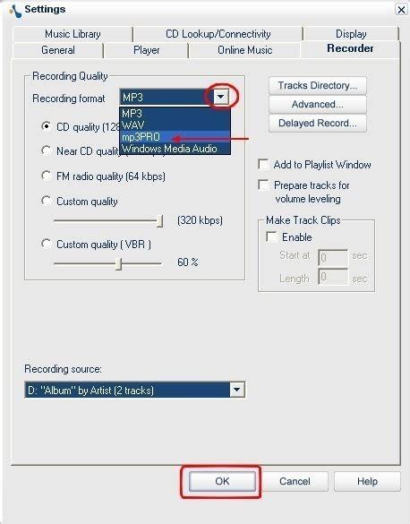 format audio enregistrement musicmatch jukebox extraire des fichiers audio de cd dans