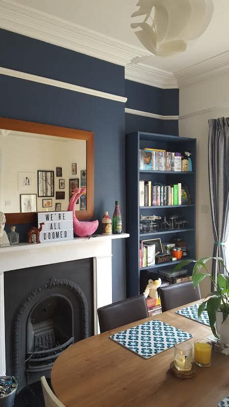ikea tarva bed painted in dulux picturebook from home dulux breton blue walls and painted ikea billy bookcase