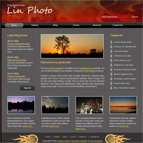 html themes for website free lin photo free website templates in css html js format
