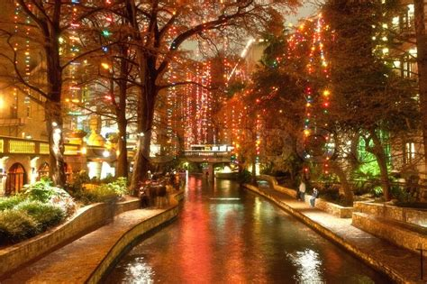 we buy houses san antonio texas christmas lights at riverwalk in san antonio texas usa stock photo colourbox