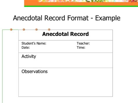 Exles Of Records Exles Of Anecdotal Records Pictures To Pin On Pinsdaddy