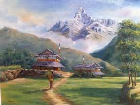 landscape painters lalitkala creations beautiful watercolor landscape