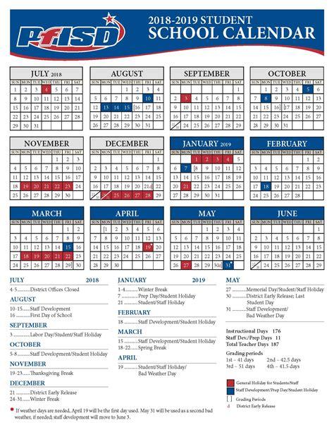 school year calendar district calendar