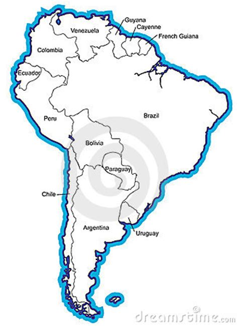 south america map with country names south american map with country names royalty free stock