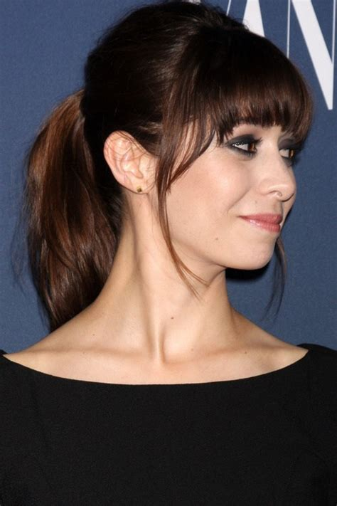 ponytail for short forehead 25 best fringe hairstyles to refresh your look