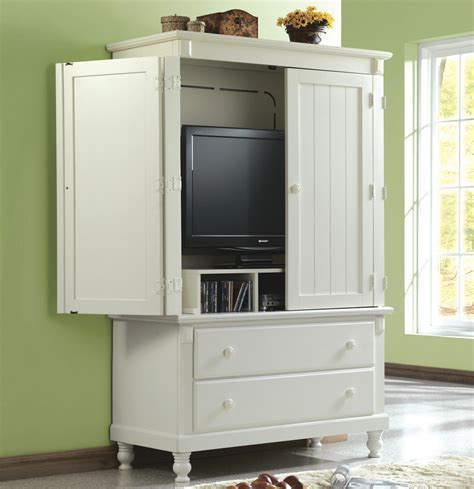 armoire television homelegance pottery 44 inch tv armoire in white beyond