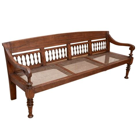 indian bench early 19th century anglo indian caned teakwood bench at
