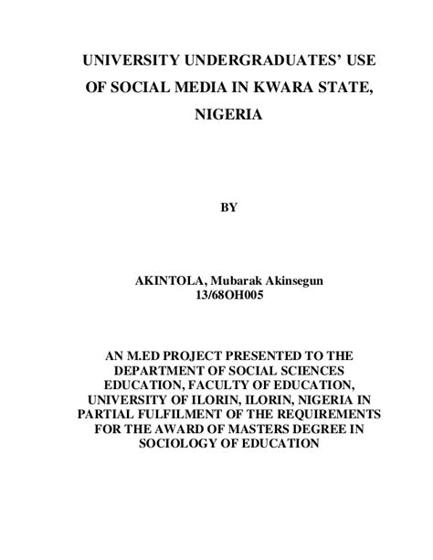 thesis title about social media title page thesis print