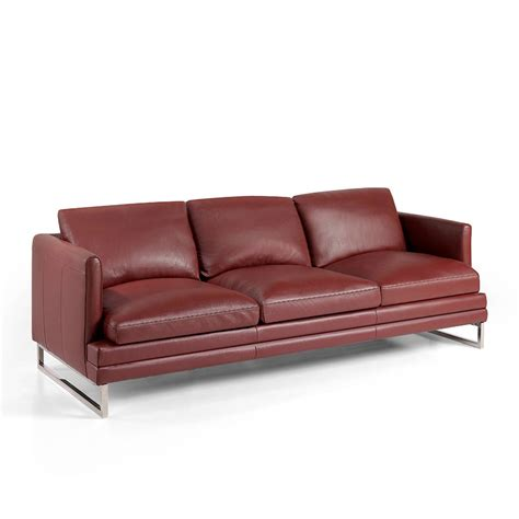 leather sofa steel legs 3 seat sofa upholstered in leather with stainless steel