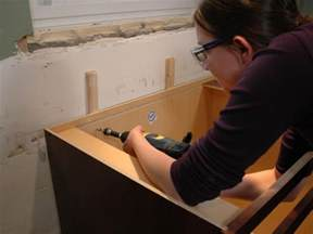 How To Install Drawers In Cabinets Installing Kitchen Cabinets Pictures Amp Ideas From Hgtv Hgtv