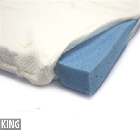 Mattress Topper Cover King Gel Infused Memory Foam Mattress Topper Bamboo Cover King Milliard Bedding The Ultimate