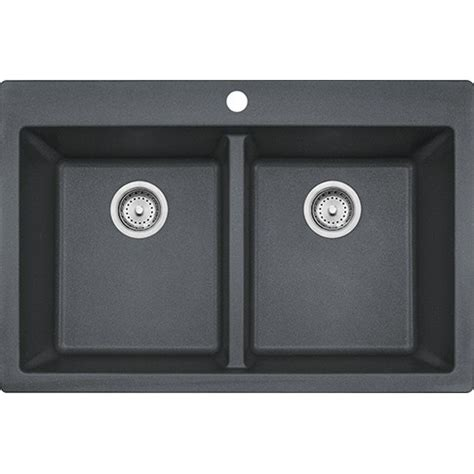 Graphite Kitchen Sinks Franke Dig62d91 Gra Primo 33 Inch Dual Mount Bowl Granite Kitchen Sink In Graphite