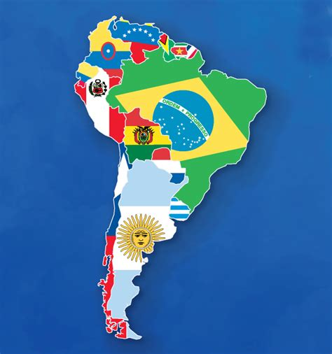 south america map and flags map of south american flags by ajmedwards on deviantart